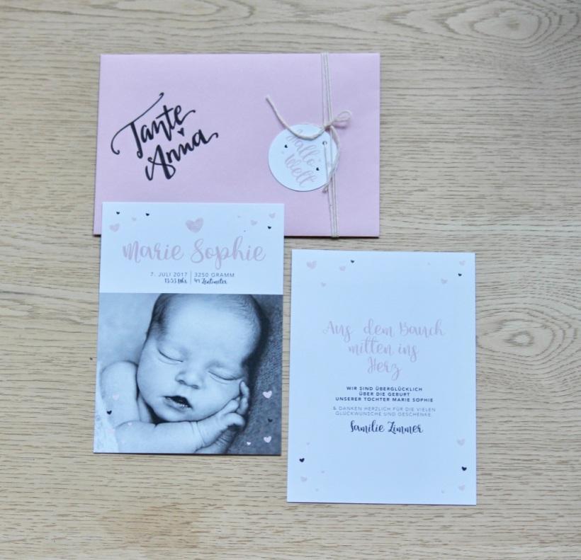 Geburtskarte Herz 1